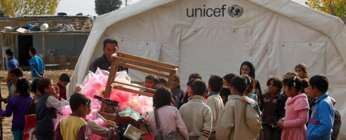 Syrische Flüchtlinge in einem Unicef - Lager in Libanon - reuters
