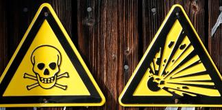 Giftgasschilder in Deutschland - reuters