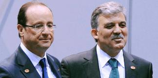 Der französische Präsident Francois Hollande und sein türkischer Amtskollege Abdullah Gül.