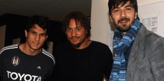 Jermaine Jones mit Necip Uysal und Tolga Zengin