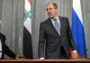 Der syrische Außenminister Walid al-Muallim und sein russischer Amstskollege Sergey Lawrow.