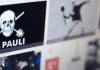 Ein kreativ verändertes Logo des bekannten St. Pauli-Totenkopfs mit gekreuzten Klobürsten statt Knochen und andere Motive sind am 09.01.2014 auf einer Bildersuchseite im Internet zu sehen. Ein neues Institut für Digitale Ethik will grundlegende Standards für moralisches Handeln im Internet entwickeln.