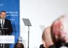 Der türkische Ministerpräsident Recep Tayyip Erdogan spricht am 04.02.2014 in der Deutschen Gesellschaft für Auswärtige Politik (DGAP) in Berlin zu den Gästen.
