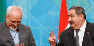 Irans Außenminister Zarif und Iraks Außenminister Zebari
