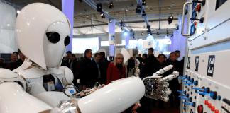 Ein Roboter,CeBIT in Hannover