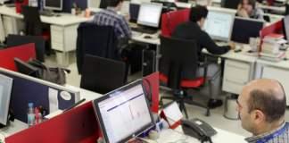 Ein Büro der Nachrichtenagentur Cihan in Istanbul.