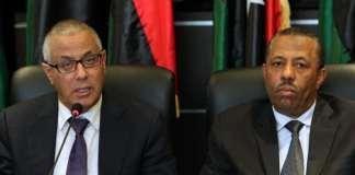 Der libysche Premierminister Ali Seidan und sein Verteidigungsminister Abdullah al-Thenni.