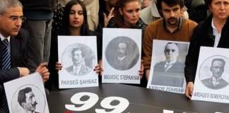 Gedenken am 99. Jahrestag der während der Zwangsdeportationen ums Leben gekommenen Armenier.