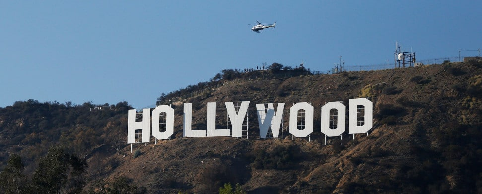 Das Hollywood-Symbol in Los Angeles.