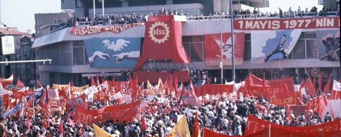 Ein Bild vom Taksim Platz im Jahre 1977, 1. Mai