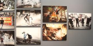 """Anlässlich des Jahrestages der Gezi-Proteste wurde eine Ausstellung mit dem Titel """"Bu Daha Başlangıç: Direniş Sergisi"""" (Dies ist erst der Beginn: Eine Widerstandausstellung) eröffnet"""