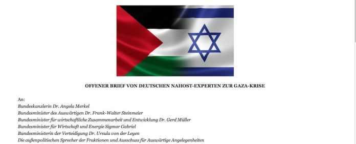 90 deutsche Nahost-Experten fordern in einem offenen Brief die Bundesregierung zu einem Kurswechsel in ihrer Nahost-Politik auf. Sie pochen auf ein Ende der Gaza-Blockade, der israelischen Siedlungspolitik und eine Untersuchung der Tötung von Zivilisten in Gaza.