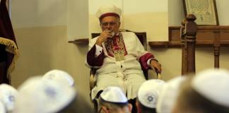 """Am """"Europäischen Tag der Jüdischen Kultur"""" haben der Oberrabbiner der türkischen Juden Heleva und Gemeindemitglieder der Galata Neva Schalom Synagoge für die Türkei und Erdoğan gebetet."""