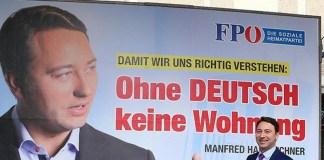 """Wahlplakat in Österreich: """"Ohne Deutsch keine Wohnung"""""""