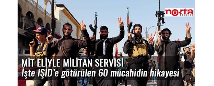 Die Titelseite des Nokta-Artikels zeigt mehrere bewaffnete Kämpfer der Terrormiliz