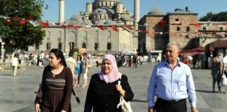 Arabische Touristen fühlen sich in Istanbul besonders wohl.