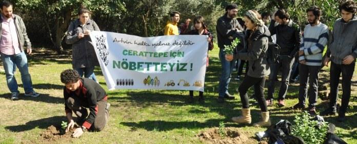 Demonstration in Cerattepe