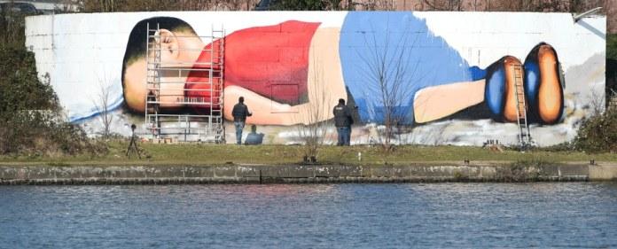Graffiti des toten Aylan Kurdi