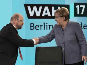 Bundestagswahl Merkel Schulz SPD CDU 370x277 -
