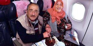 Stolze 40 Jahre ist das Ehepaar Melek und MuhtarGüldoğuş schon verheiratet. Das ist der Turkish Airlines nicht entgangen.
