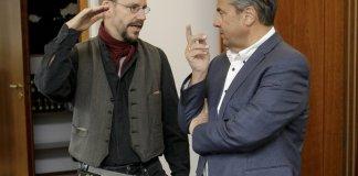 Peter Steudtner und Sigmar Gabriel