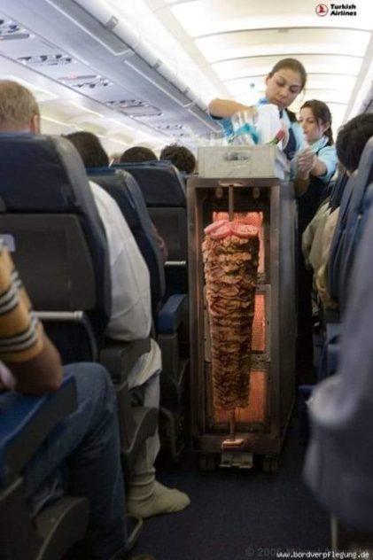 Döner im Flugzeug