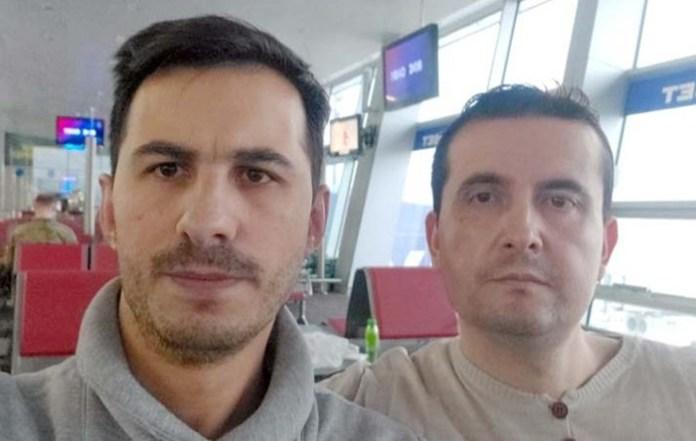 Die beiden Männer baten mit einem Video um Unterstützung, um nicht in die Türkei abgeschoben zu werden. Screenshot: Video von Samet Güre und Salih Fidan / Twitter