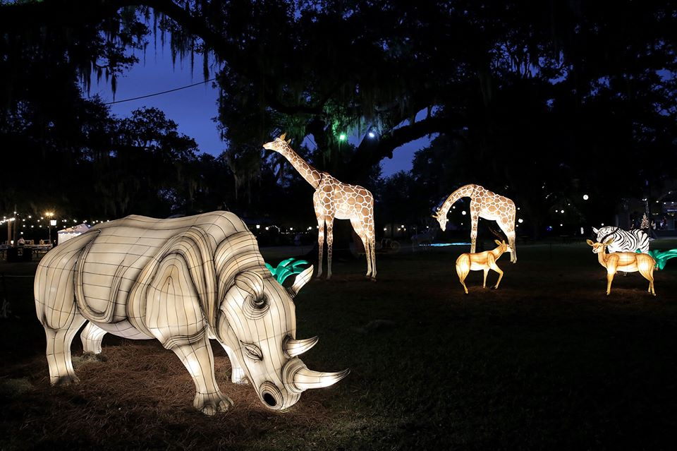 The Audubon Zoo Lights In New Orleans Will Put You In The