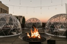 Stay Warm And Cozy Season Rooftop Lounge Igloo