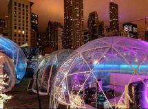 Godfrey Hotel In Illinois Chicago Rooftop Bar Igloos