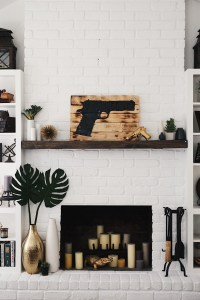 How to Easily & Affordably Paint a Brick Fireplace White ...