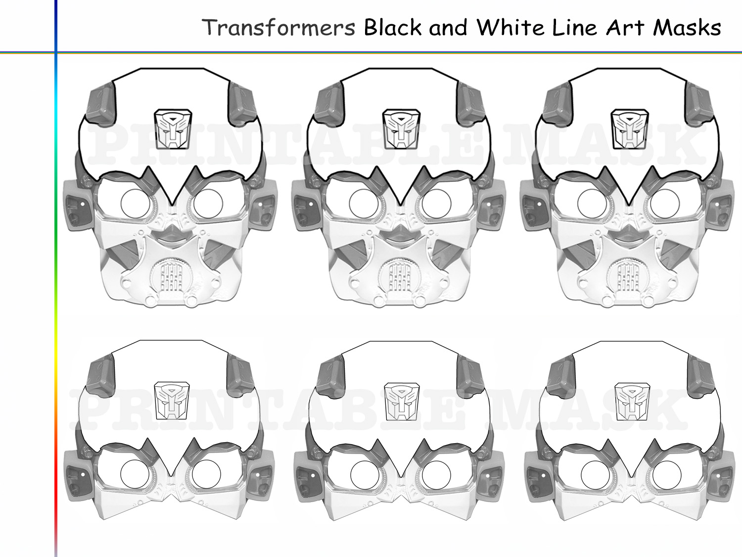Coloring Pages Transformers Party by HolidayPartyStar on