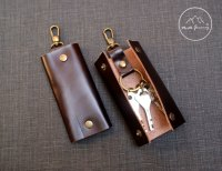 Leather Key Case ,Leather Key Holder by NJ-Leather on Zibbet