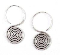 Sterling Silver Spiral Earrings,flat silver by ...
