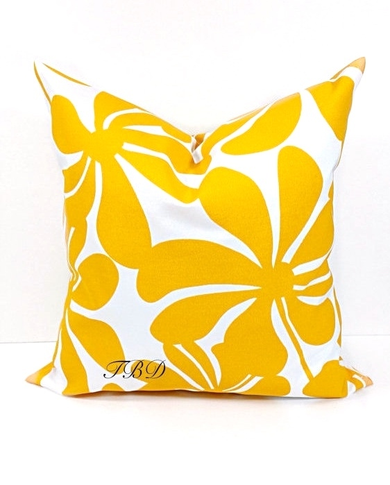 yellow mustard pillow cover indoor outdoor twirly sham cover sofa pillow cover throw pillow cover euro pillow case select size