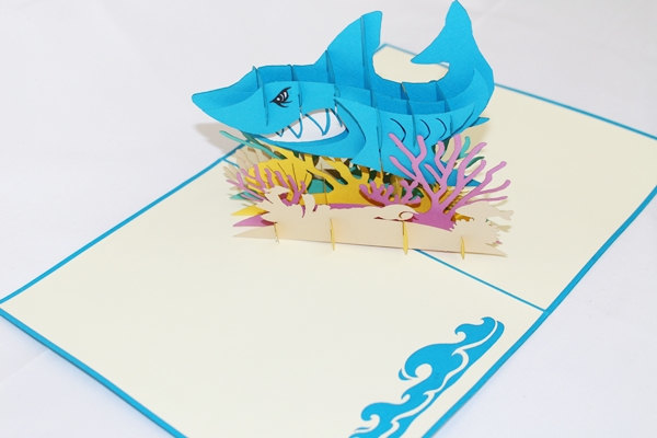 3D Shark Pop Up Card Pop Up Father By Greeting All