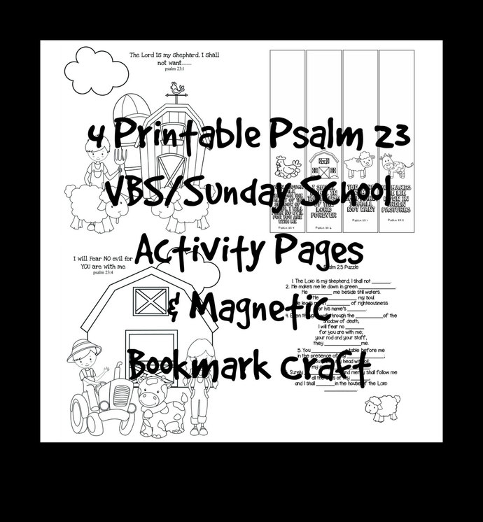 VBS Sunday School Scripture Activity by ADesignbyAngie on