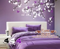 Cherry blossom wall decals violet nursery | Cuma wall decals