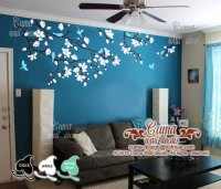 Cherry blossom wall decals nursery white by Cuma wall ...