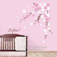 cherry blossom wall decals flower vinyl by Cuma wall ...
