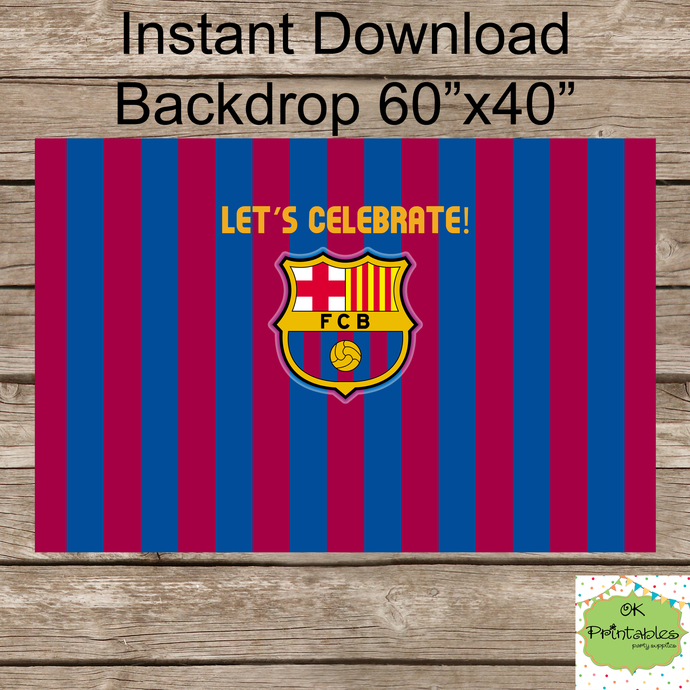 FC Barcelona Backdrop Barca Backdrop By Okprintables On