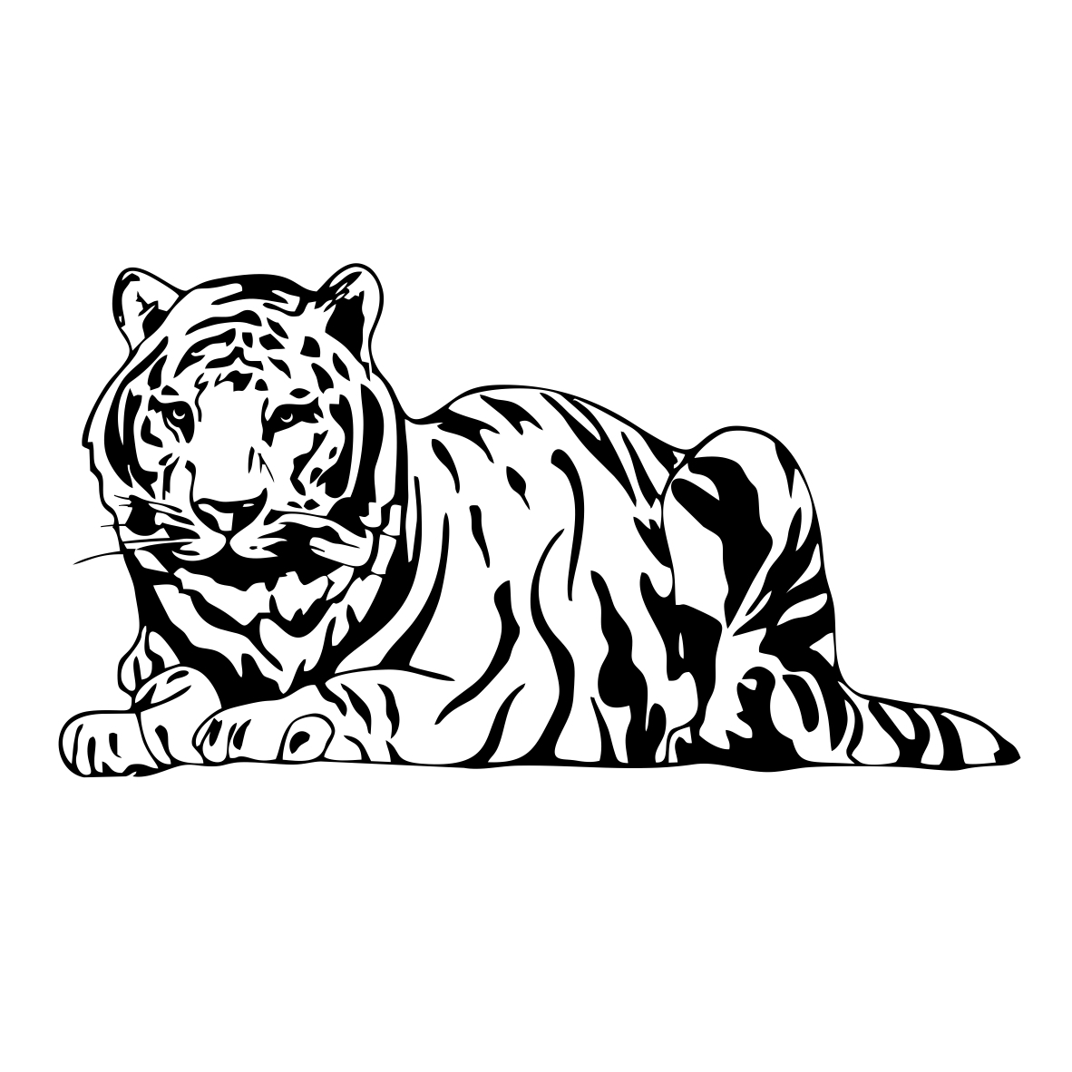 Bengal Tiger Svg Dxf Eps Cdr Ai By