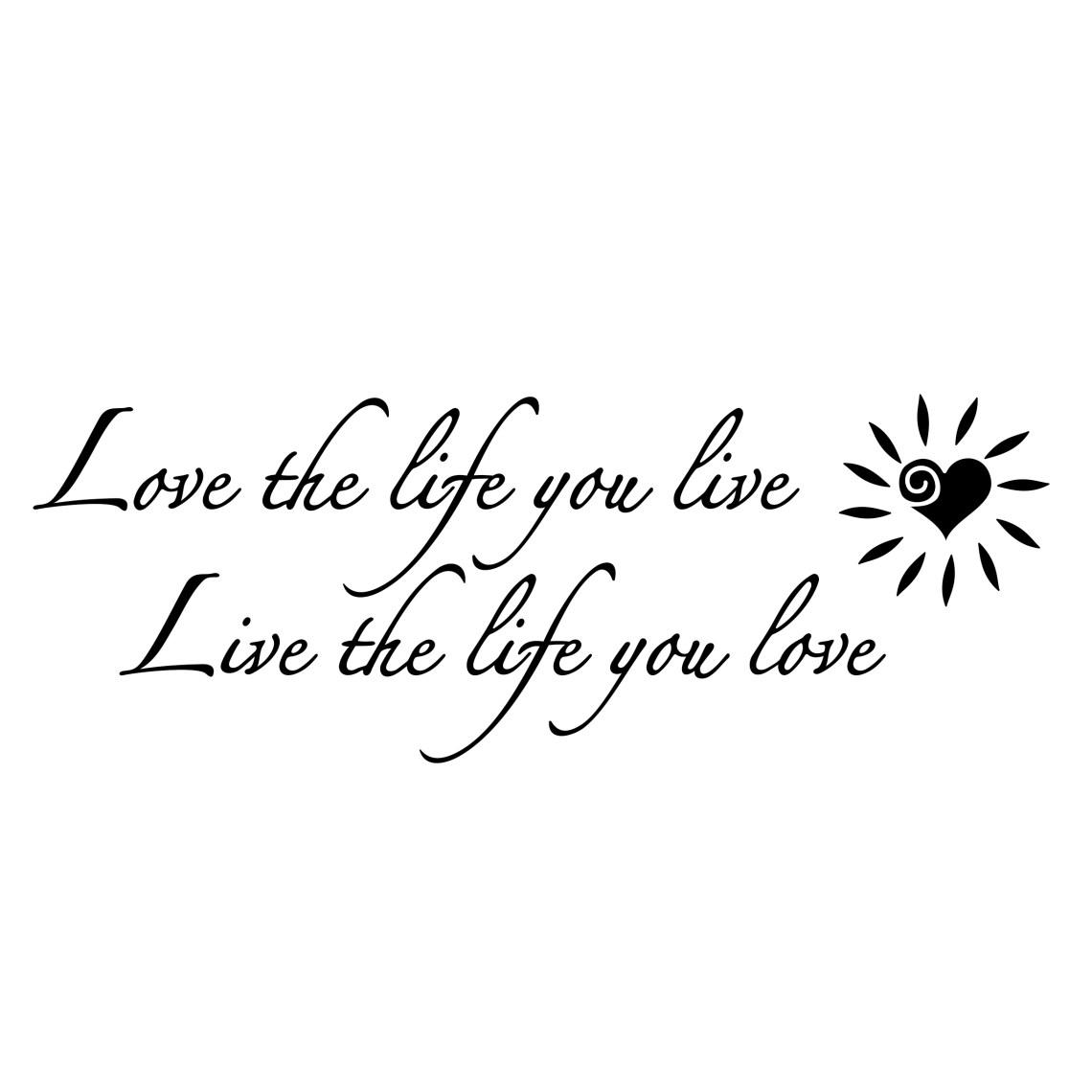 Download Love the life you live heart Design SVG DXF | vectordesign