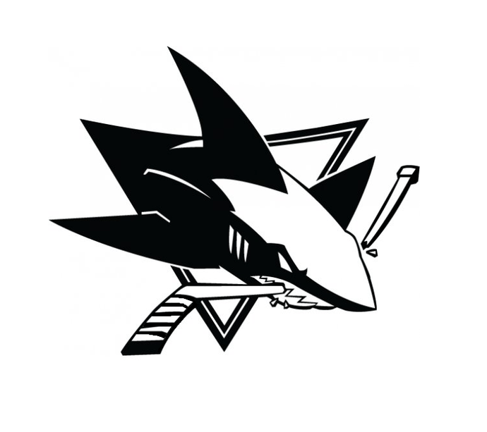 San Jose Sharks Team Logo Vinyl Sticker by Jedi Vinyl
