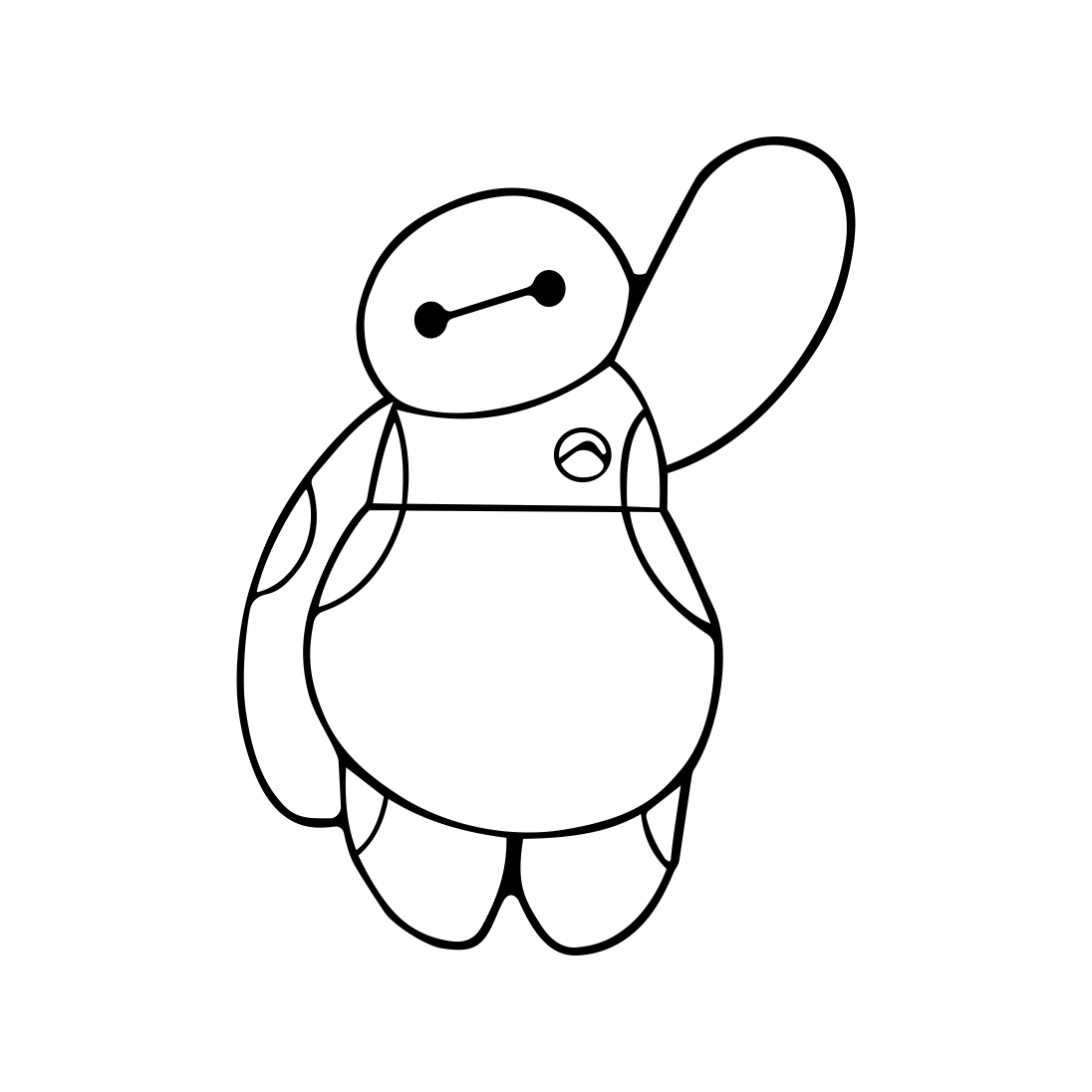 Disney Baymax Big Hero 6 graphics design SVG by