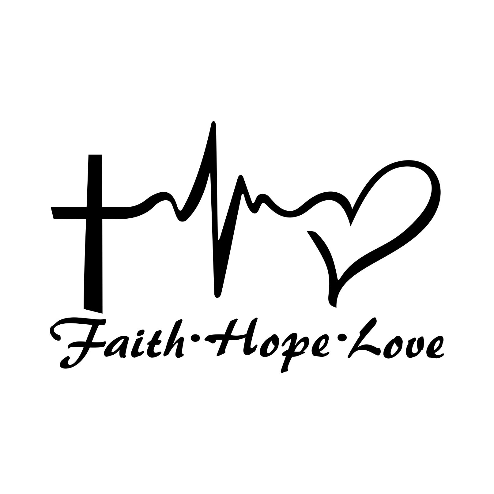 Faith Hope Love Heart Graphics Design Svg Dxf By