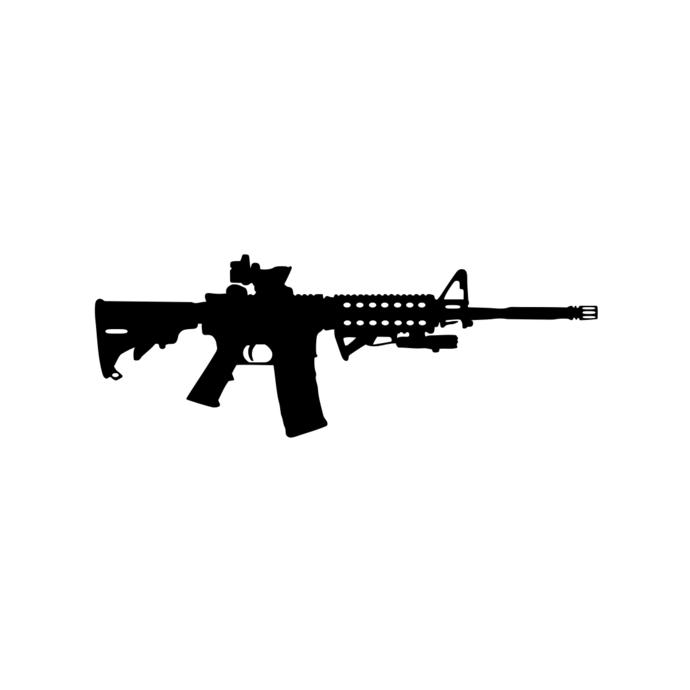 AR-15 Gun Ammo Assault Rifle M16 graphics by vectordesign