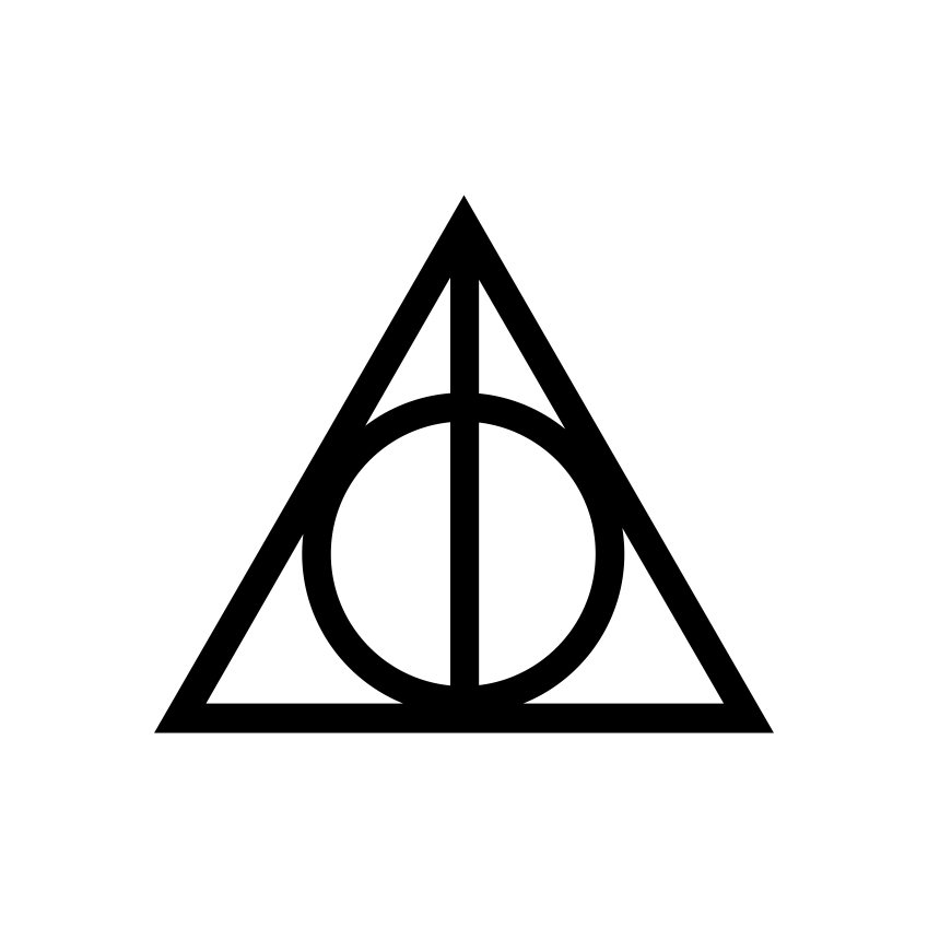 Harry Potter Deathly Hallows graphics design by