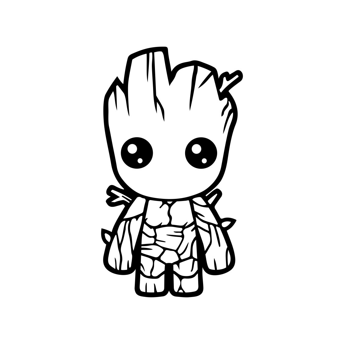 Baby Groot Guardians Of The Galaxy Graphics By Vectordesign On Zibbet