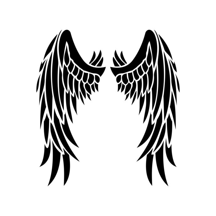 Angel Wings graphics design SVG EPS Dxf Png by